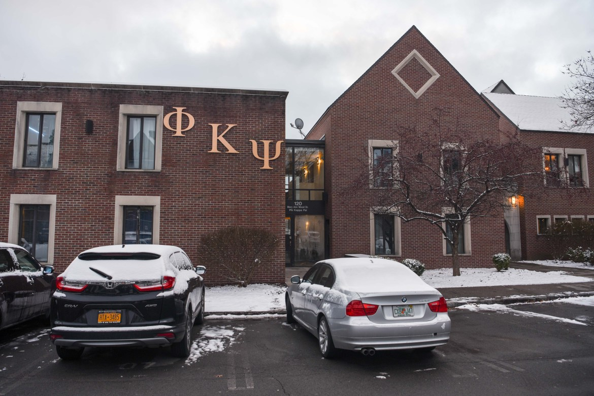 Phi Kappa Psi fraternity house, the last place Antonio Tsialas '23 was seen alive, has had its recognition indefinitely revoked by the University.