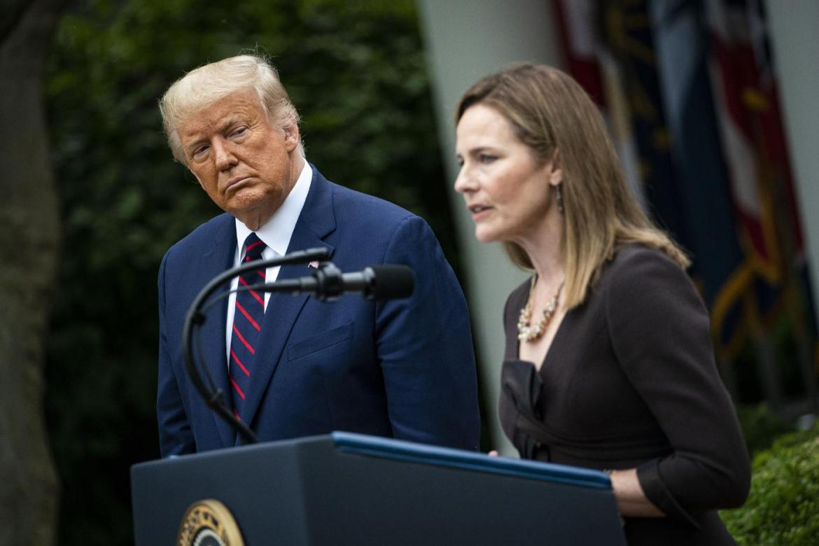 President Donald Trump announces Judge Amy Coney Barrett as his Supreme Court nominee on Saturday. Cornell law professors weighed in on what the Supreme Court vacancy means for the nation as the 2020 election approaches.