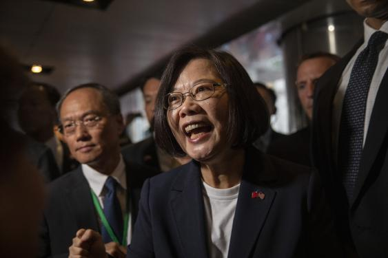 "Tsai Ing-wen LLM '80, the current president of Taiwan, placed under the ""leaders"" category as well."