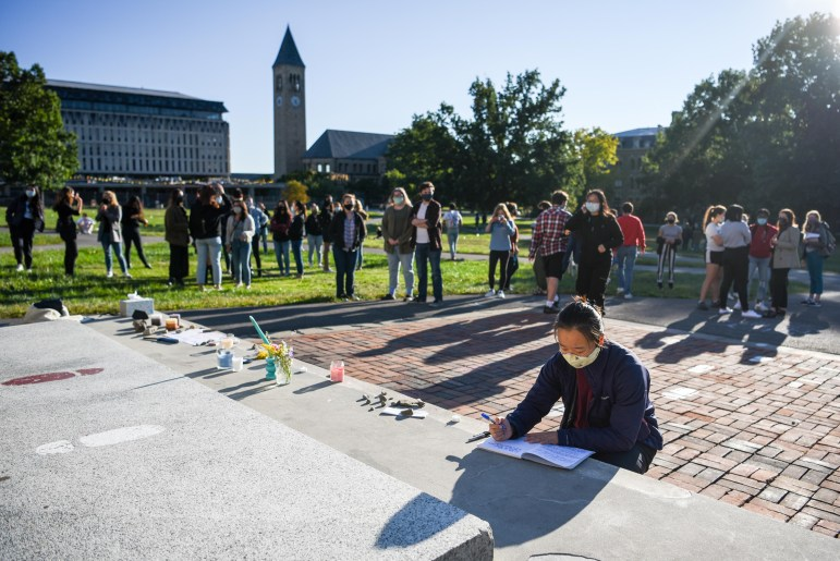 As news spread of Justice Ruth Bader Ginsburg's '54 death Friday night, students planned a vigil for the next afternoon to honor her memory.