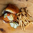 Southern Fried Chicken Sandwich, 2 Stay 2 Go. (Ben Parker/Sun Assistant Photography Editor)