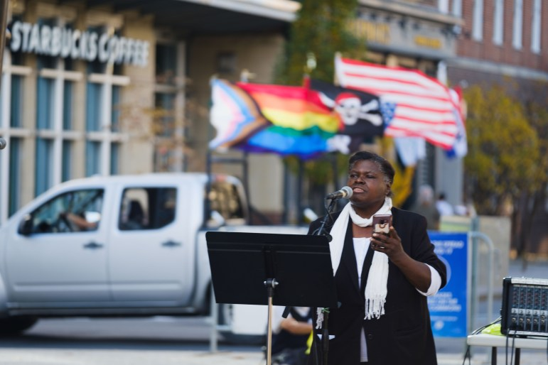 Local poet Peaches Gillette speaks about the importance of non-violence to progressive advocacy.