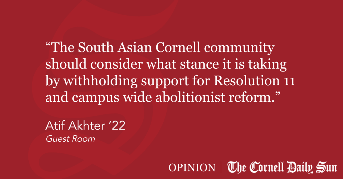 cornellsun.com: GUEST ROOM | Why South Asians Need to Support Disarming and Defunding CUPD