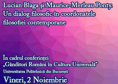 Lucian Blaga și Maurice-Merleau Ponty – un dialog filosofic în coordonatele filosofiei contemporane