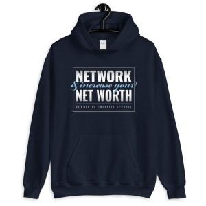 'Network' Corner 10 Creative Dark Hoodie