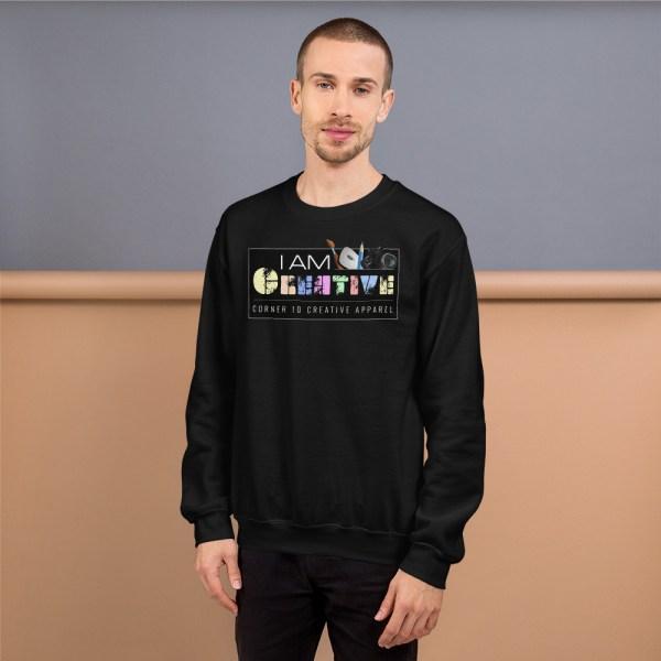 unisex crew neck sweatshirt black 5fe9a93ec481a