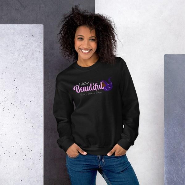 unisex crew neck sweatshirt black 5fe9ab48cf337
