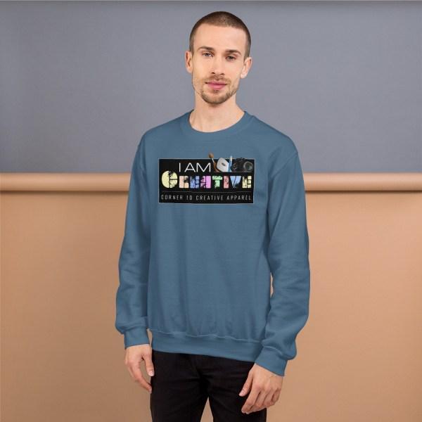 unisex crew neck sweatshirt indigo blue 5fe9a93ec5a11