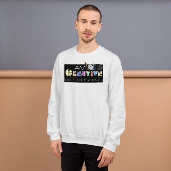 unisex crew neck sweatshirt white 5fe9a93ec35b8