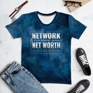 'Network' Corner 10 Creative Women's Tie Dye T-shirt