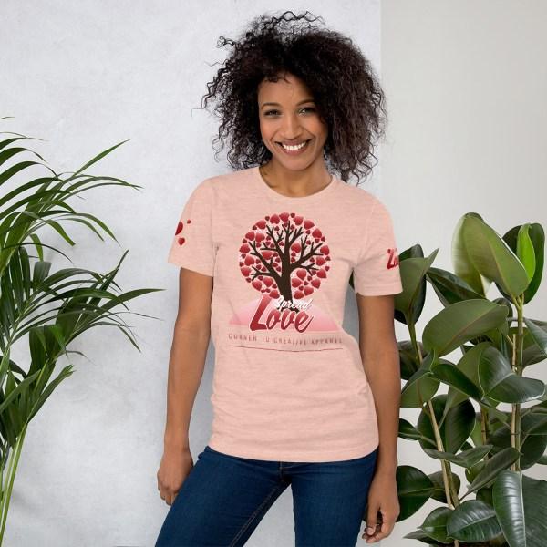 unisex premium t shirt heather prism peach front 604541580cc8c