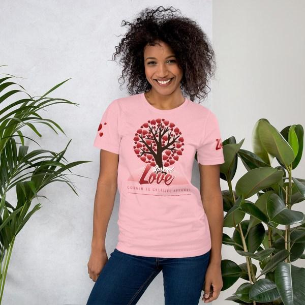 unisex premium t shirt pink front 6045415810024