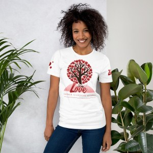 'Spread Love' Corner 10 Creative Short-Sleeve Unisex T-Shirt (Bella + Canvas 3001)