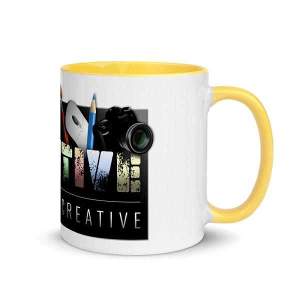 white ceramic mug with color inside yellow 11oz right 6043e9f4c1937