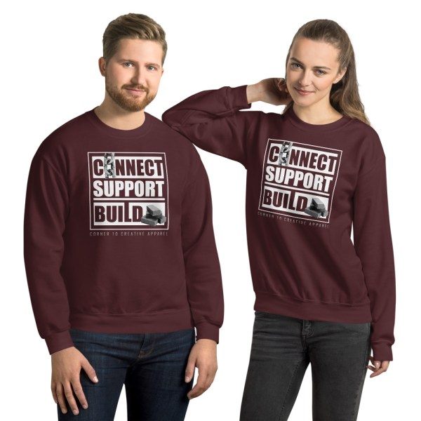 unisex crew neck sweatshirt maroon front 612ecec3adc55