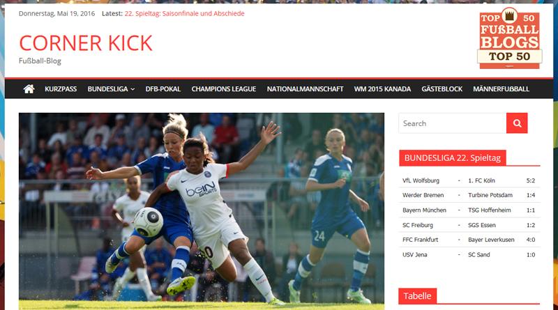 Corner Kick unter den besten 50 Fußball-Blogs