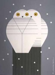 Two Owls by Charley Harper