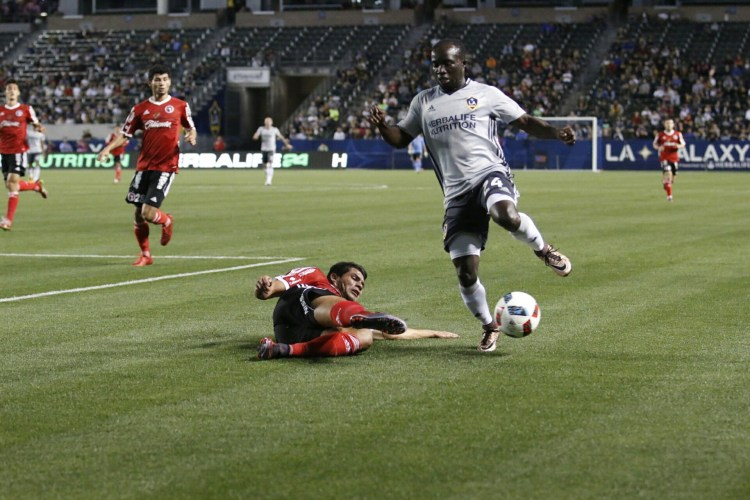 Emmanuel Boateng LA Galaxy vs Xolos 2016 preseason. Photo by Brittany Campbell