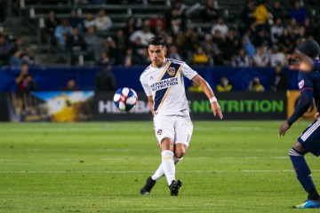 Favio Alvarez plays for the LA Galaxy on 6.2.19 -- Photo by Brittany Campbell