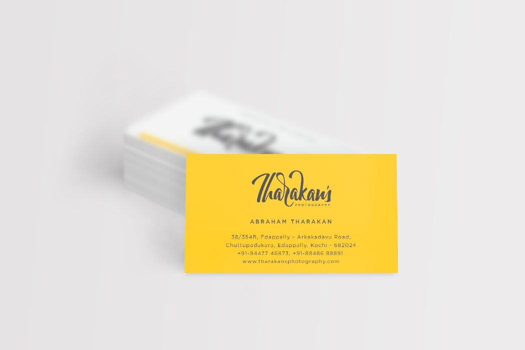 Tharakans Photography Business Card Design Muscat