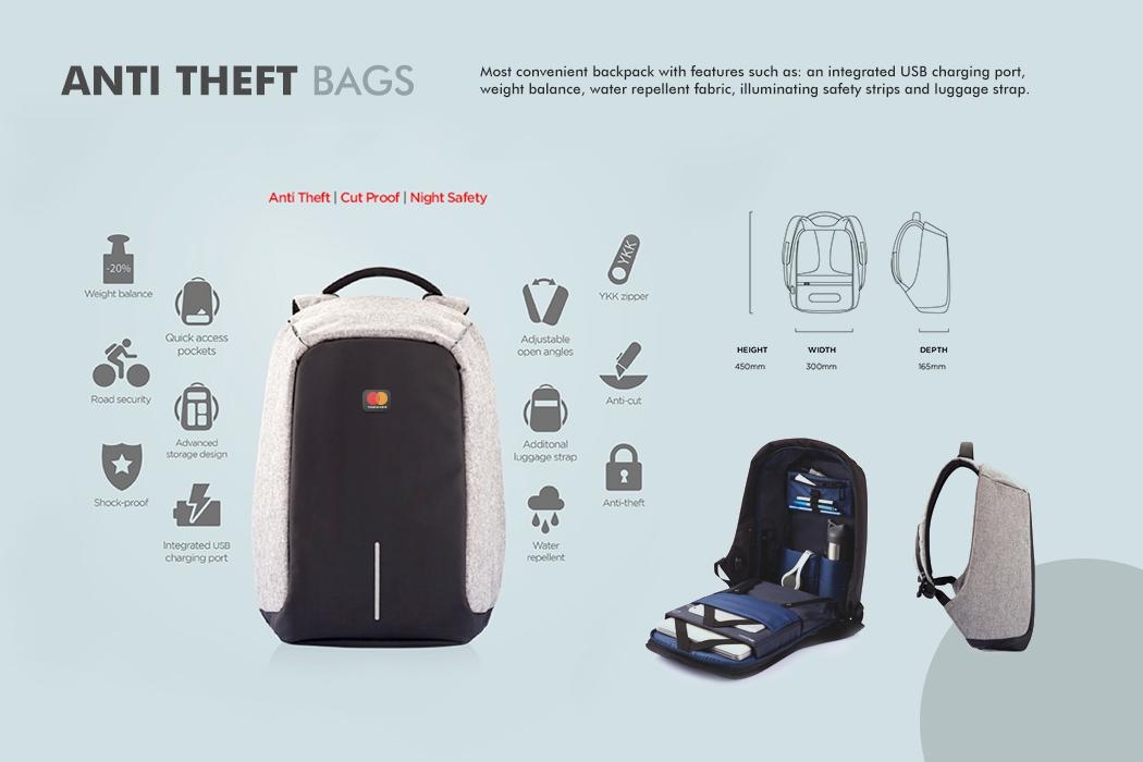 MasterCard Custom Anti-Theft Bags Gift by Cornerstone