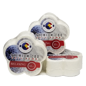 premium CBD hemp bath bombs from Cornerstone Botanicals