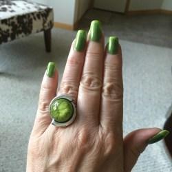 Summer Green Manicure 6-4-16