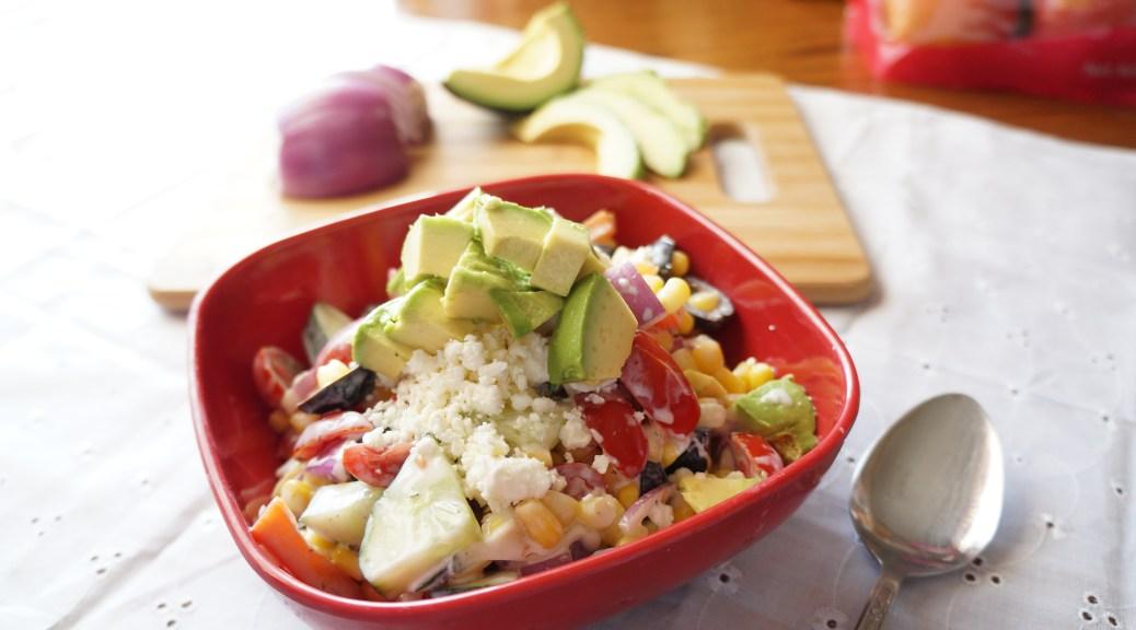 Greek Inspired Corn Salad