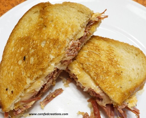 slow cooker corned beef reubens