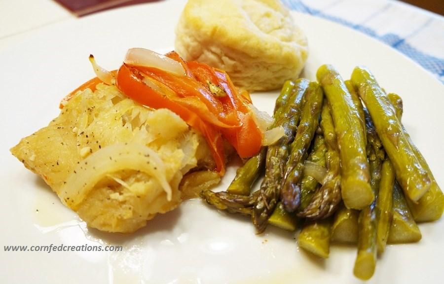 speedy steamed cod and veggie packs