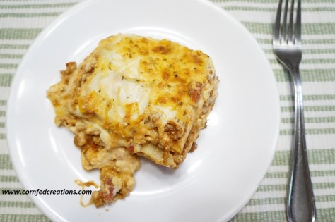 hearty beef and tomato lasagna