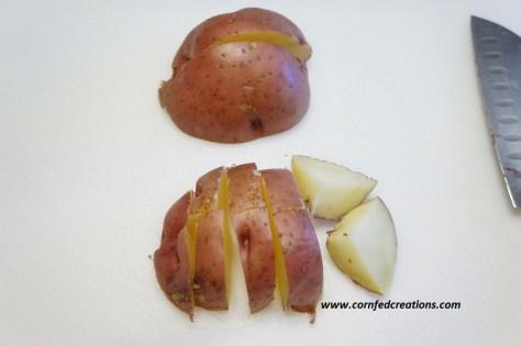 blue cheese garlic potatoes