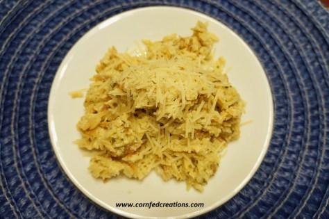 creamy Parmesan garlic rice pilaf