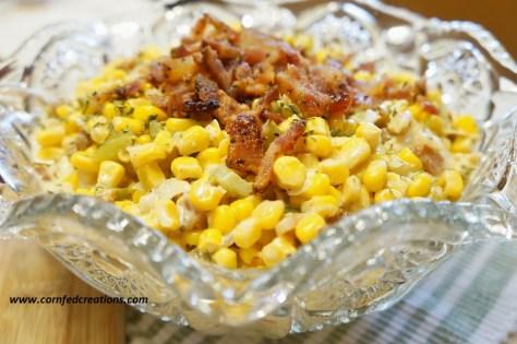 creamy southwestern corn with bacon