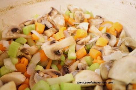 creamy chicken mushroom rice soup