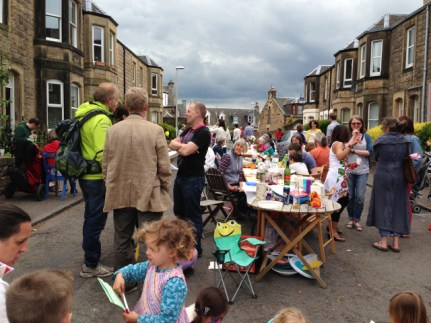 Cornhill Terrace Street Party 2013. Photo by Mary Hutchison