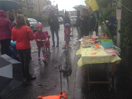 Not rained off at the Cornhill Terrace Street Party, 2014. Photo by Mary Hutchison