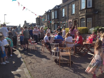 Cornhill Terrace Street party 2015. Photo by Mary Hutchison