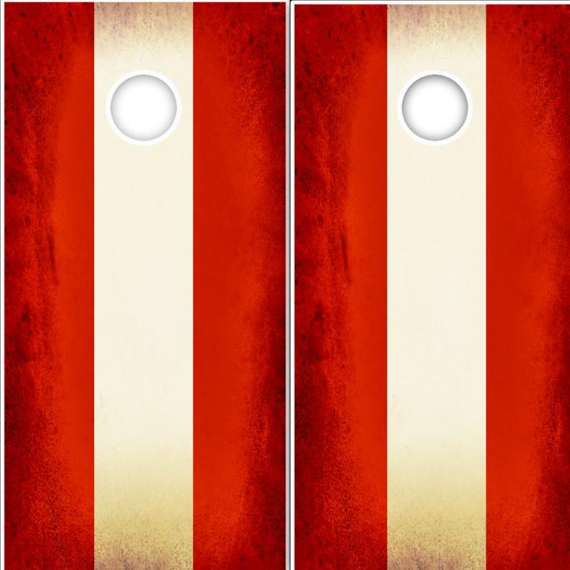 Austrian Flag Cornhole Wrap