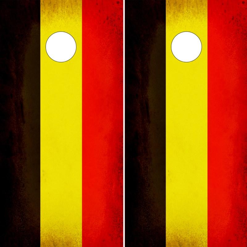 Cornhole Wraps Rustic Belgium Flags
