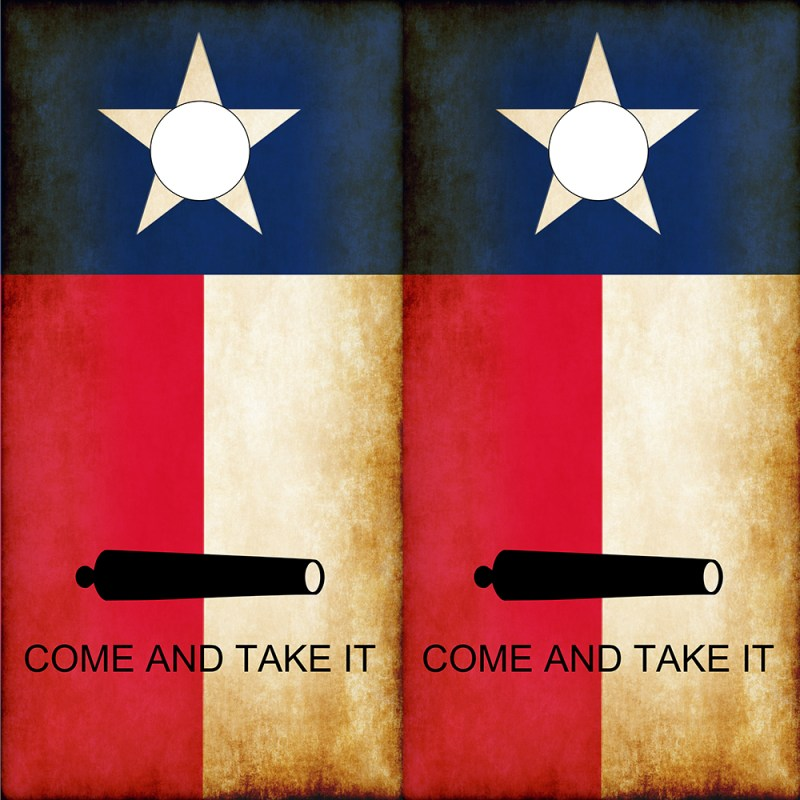 Molon Labe Come and Take it Texas Cornhole Wraps