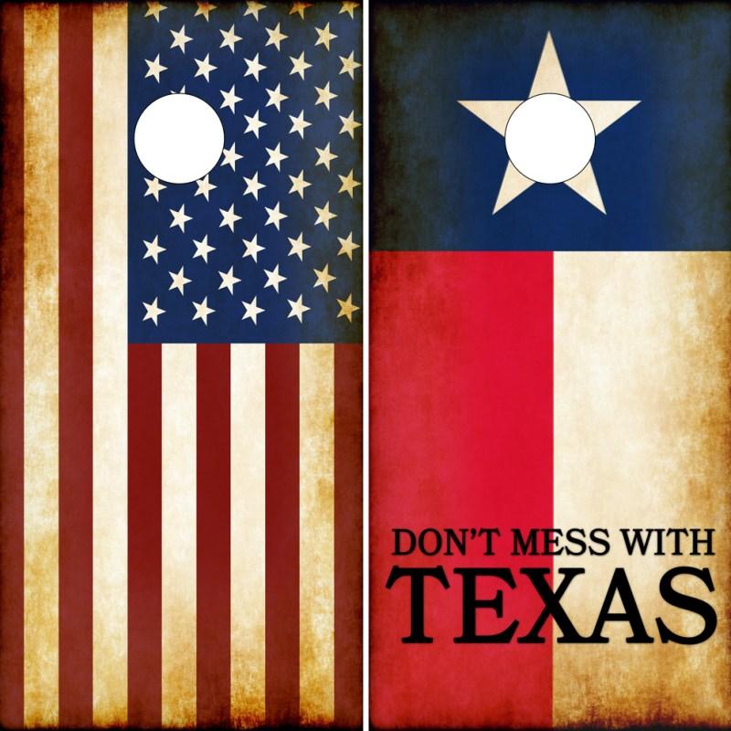 Dont Mess With Texas Cornhole Wraps