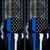 Punisher Blue Line Cornhole Wraps