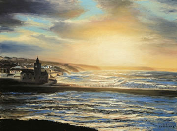 Andrew-Giddens-Porthleven-Dawn---Oil-on-Canvas--60-x-80-cm-