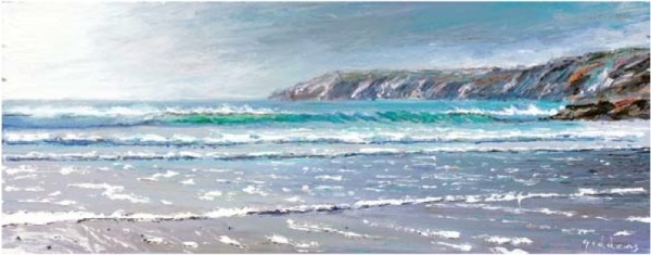 Kennack Sands II 200mm x 500mm, oil on linen
