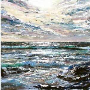 Storm Sky II, Poldhu Cove 400mm x 400mm, oil on canvas,
