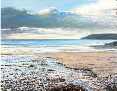 Towards Lizard Point from Kennack Sands 710mm x 910mm, oil on linen