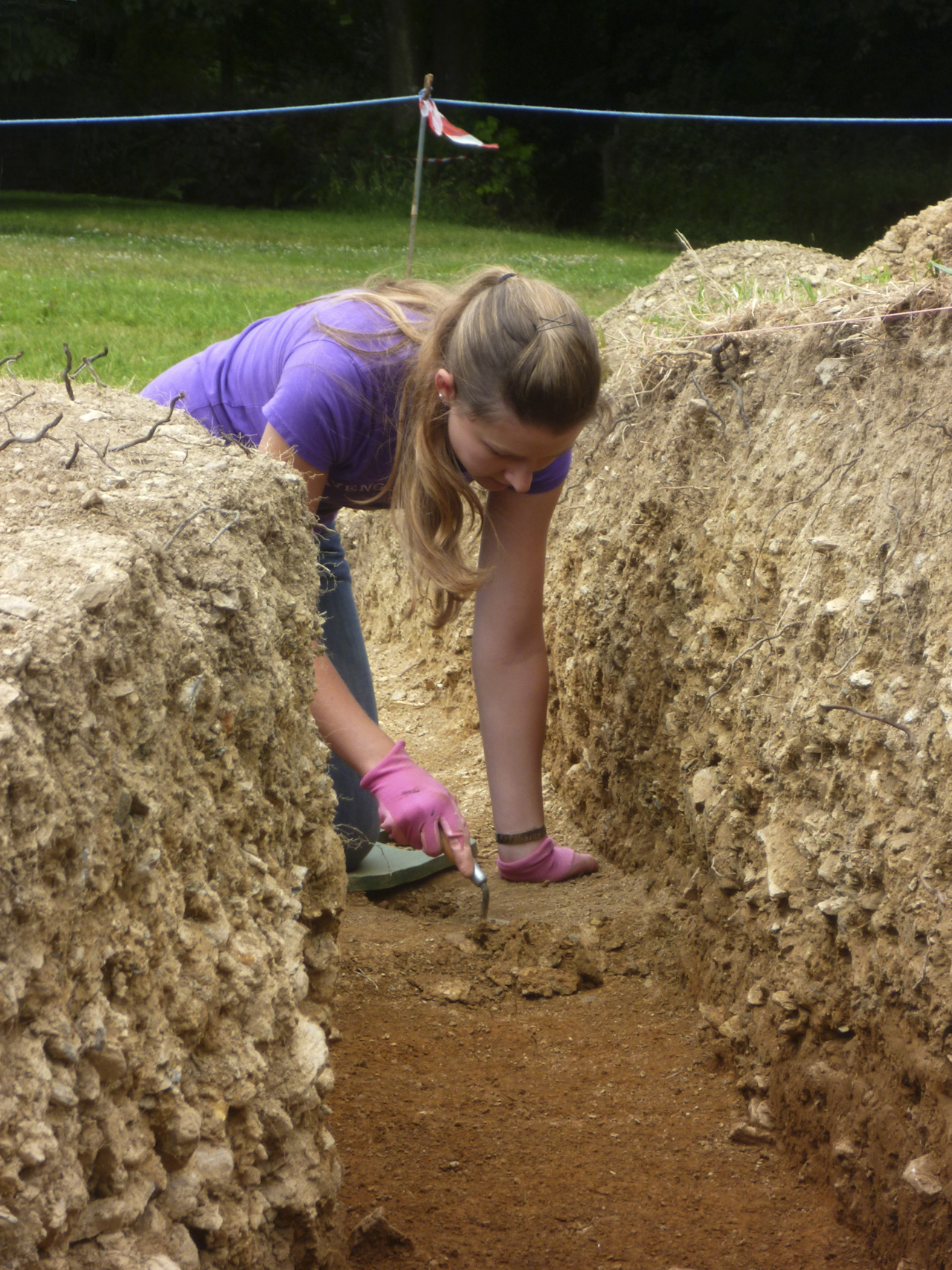 Excavating in the grounds of Godolphin House - July 13