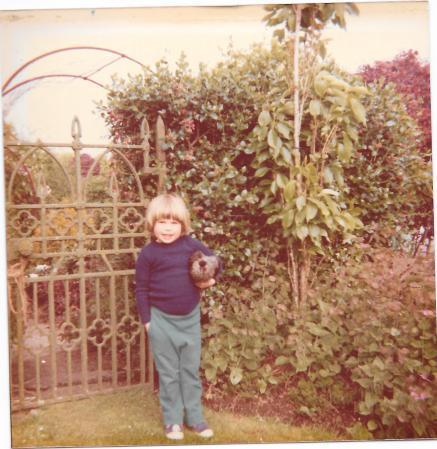 Scan0011 Me & my pet hen 1981
