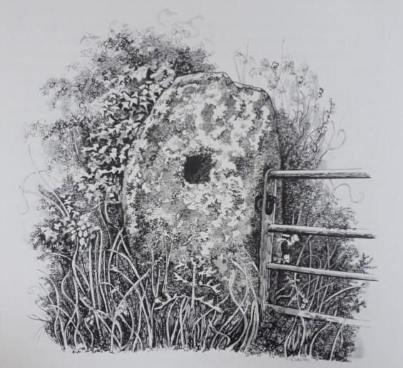 merry maidens holed stone
